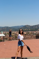 On top of Piazzale Michelangelo; worth the trek and hike